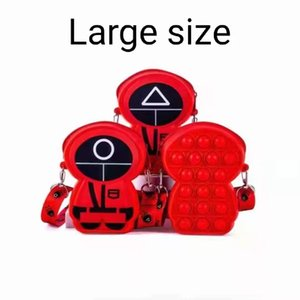 Squid Game Silicone toys bag Decompression Toy Creative Games Sensory Anxiety Stress Reliever bags