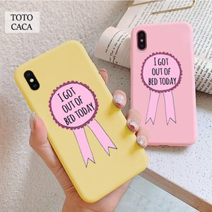 I got out of bed today Soft phone case for iphone 11 Pro Max X XS XR 6S 7 8 plus Cute cover fpr iphone SE 2020 coque