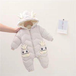 Giyim Setleri 2021 Kış Bebek Giysileri Karikatür Pamuk Sıcak Doğan Kız Tulum Toddler Snow Suit Noel Kıyafet