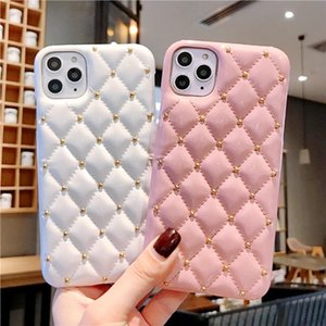New Fashion Phone Case For Iphone 12 8 7 Xr Xs 11 Pro Max Plus European And American Small Fragrance Style Rivet Leather Protective Case