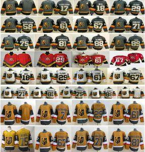 2021 Reverse Retro Vegas Golden Knights Fleury Paciornetty 75 Ryan Reais 89 Alex Tuch 81 Jonathan Marchessault # 7 Alex Pietrangelo Jerseys
