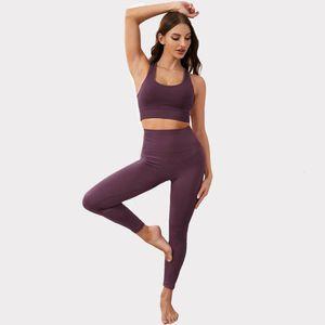 Inswind Spor Fitness Suit kadın Büyük Boy Sıkı Yoga Sutyen İki Parçalı Set Dikişsiz Yüksek Elastik