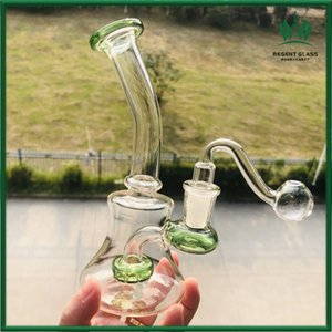 Dab rig water glass pipe with 14mm glass bowl piece for dabs smoking hookah heady mini bubbler recycler oil rigs free shipping