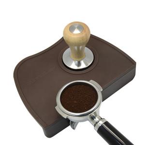 Caffè espresso Tamper Mat Silicon Rubber Angolo Tappetino angolare Resistente al tappetino resistente al tappetino per il tampone Barista Tampone Tampone 210309