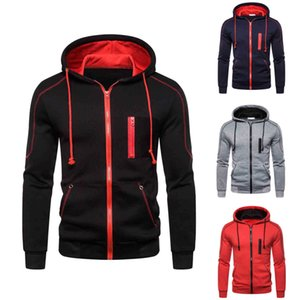 2021Men&#39s Hoodies Fashion Designers Color Contrast Casual Cardigan Hooded in Autumn and Winter of Sweatshirts Perfect for Jeans and Pants