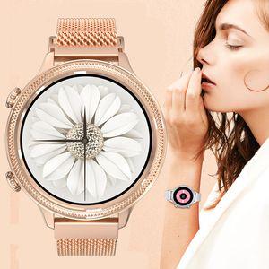NOUVEAU 2021 M3 Smart Watch Femmes Bracelet 1,1 pouce Ecran Tour complet Surveillance de la fréquence cardiaque IP67 Imperméable Dames Montres de Fitness