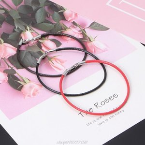 Braided Leather Bracelet Wristband With Lobster Clasp Charm Beads DIY Jewelry F03 21 Dropshipping