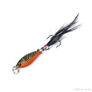 Hengjia 100pcs / lot 2,5 cm 5g occhi 3d mini pacchetto piumino piuma di pesci piuma strada sub esca metallo pesci esca spedizione gratuita