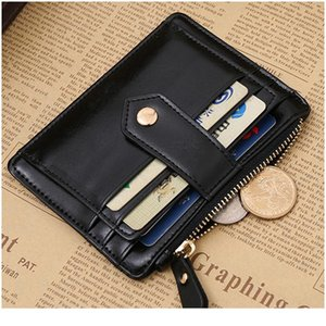 Black Red Color Men Women Wallet Money Clip Credit Card Money Holder Business Faux Leather Stylish Simple Fashionab jllrCH