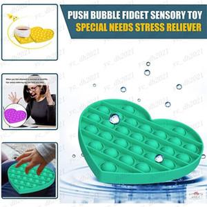 DHL Push Pop Bubble Sensory Fidget Anxiety Toys Stress Relief Special Needs Silent Classroom Bubble Autism Kids Stress Balls