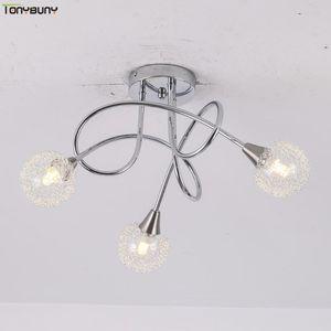 Moda con estilo Moderno Luces colgantes Lustre Lámparas de vidrio Lámparas Arte Decoración Lámparas Lámparas para Comedor Drop Light Light