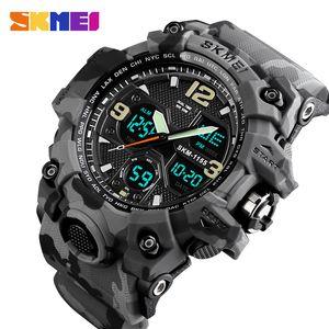 SKMEI Brand Luxury Military Sports Watches Men Quartz Analog LED Digital Clock Man Waterproof Dual Display Wristwatches Relogio 210310