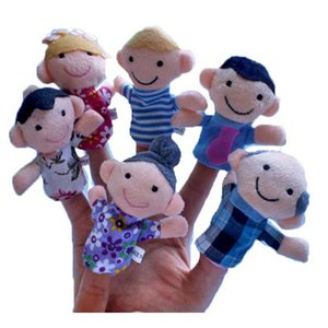 Creative Family Puppet Plush Finger Toy Dolls Kids Baby Early Educational Toys Six styles Wholesale 1