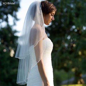 Bridal Veils 2021 Elegant Two Layers Wedding Short Fingertip With Comb Women Vintage Veil White Ivory Velos De Novia