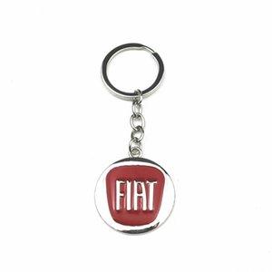 Schlüsselanhänger 3D Metall Auto Keychain Emblem Schlüsselanhänger für Fiat 500 Grande Punto Ducato 2021 Interior Auto Supplies Zubehör