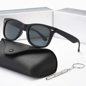 High quality trend polarized lens aviator fashion sunglasses for men and women brand designer retro sports glasses with box