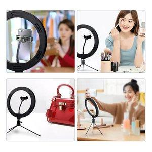 10 بوصة RGB ملء ضوء مجموعة الهاتف المحمول Selfie Live Beauty Light Fill LED Ring Desktop Ring for YouTube PPoBography