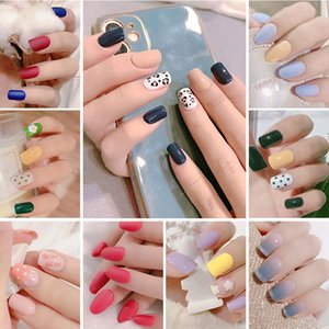 Removable Fake Nails Accessories for Art Decoration 2021 Fashion Multi-Color False Nail with Glue for Manicure