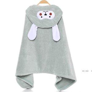 Children Towel Cape Coral Velvet Cartoon Robe Children's Vath Hooded Bath Towel Plus-Size Baby Poncho Hold Mother Babys Towels EWC6515