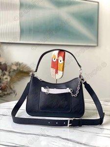 Marelle MM Bag With Chain Wallet 2Sets Monograms Canvas Leather Women Designer Shoulder Bags Fashion Brand Crossbody HandBag Purse Handbags M80794 M80688