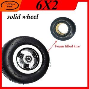 오토바이 바퀴 타이어 6 인치 솔리드 휠 6x2 타이어 거품 충전 된 타이어 미니 전기 스쿠터 빠른 F0 폭발 증거 부분