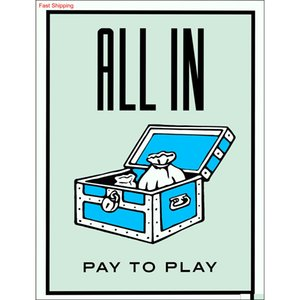 """Unframed alec Monopoly """"all In"""",hd Canvas Print Home Decor Wall Art Painting,of qylDTu sweet07"""