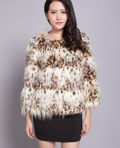 European and American new style autumn and winter collarless fashion imitation raccoon fur short woolen coat women's clothing