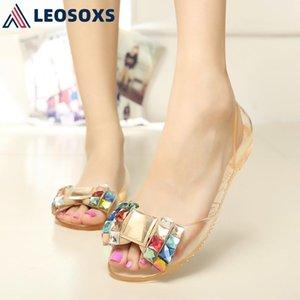 Leosoxs Kadınlar Slayt Bayanlar Ayakkabı 2021 Bayan Sandalet Ayakkabı Açık Toe Şeffaf Sandalet Kadın Slaytlar Slide-On X272