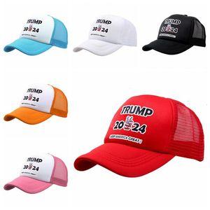 12 styles Trump 2024 Hat Trump Biden Summer Net Hat Peak Cap USA Presidential Election Baseball Cap Sun Hats LLA418