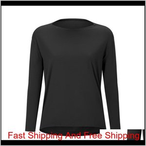 Luyogasports Lu Tops Running Loose Long-sleeved Women's Slim Fit Shirt Breathable Women's Training Fitness Lu Yoga qylHOV pets2010