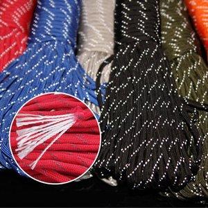 31m 9 Strand Reflective Paracord Paracorso Tenda paracadute Vento Corda fissa Rope Pesca Linea stendibiancheria Multipurpose 7 colori