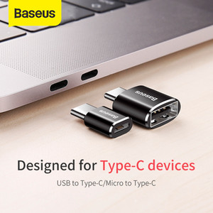Baseus Micro USB Type C OTG Adapter Mini usb c Male Female otg Adapter for date transmission