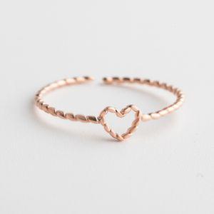 Koreanische neue S925 Pure Girls Simple Mode Silber Hand Schmuck Liebe Modeling Ring