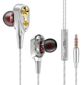 CK8 Series Dual Driver Earphones Stereo Bass Sport Running Headset HIFI Monitor Earbuds Handsfree With Mic