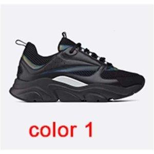 Men Shoes B22 vintage Platform s women Calfskin Trainers fashion Leather Patchwork shoes Flat Low Top Canvas Sneaker xianghuaqiang