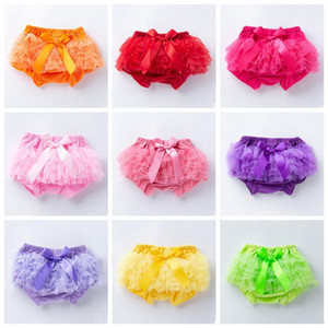 Baby Skirt Ruffles Chiffon Bloomer Tutu Skorts Infant Cotton Bow PP Shorts Kids Lovely Skirt Diaper Cover Underwear Skirts SEA GWC6151