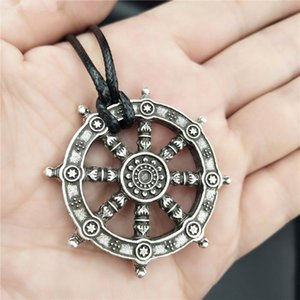 Free Ship Wheel Of Life Samsara Buddhist Talisman And Amulet Pendant Buddha Necklace Dharma Religious Jewelry