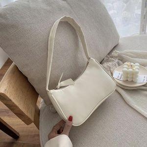 Soft PU Leather Women Purple Underarm Bag Retro Solid Color Ladies Baguette Handbags Fashion Design Girls Small Shoulder Bags CB