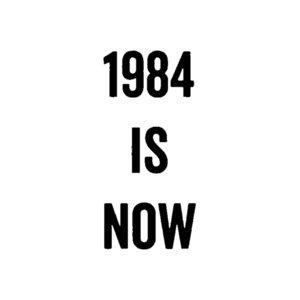 7.6CM*16.4CM Funny 1984 Is Now Vinyl Car Sticker Decal Black Silver Accessories C15-2745