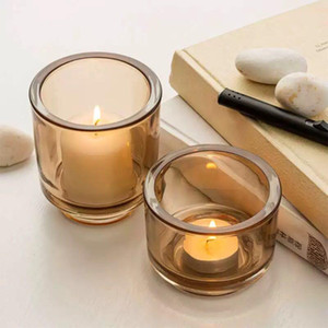 Candle Jars Crystal Luxury Glass Pillar Jars With Scented Candle For Romantic Home Candlelight Dinner Table