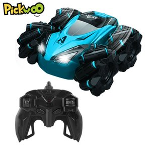 Pickwoo C10 RC Stunt Car with Light Music 2.4Ghz 4CH 20km h Drifting 360 Degree Rotating Remote Control Vehicle Toys for Kids