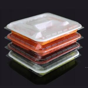 Descartável Take Out Recipientes Lancheira Suprimentos Microwavable 3 ou 4 Recipientes de Armazenamento de Alimentos Plásticos Reutilizáveis Com Tampas DHE4902