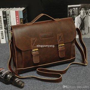 JH Men Vintage Laptop Bag Bag Genuine Brand Leather Tote Bags Messenger Shoulder 2016 Handbag Designer Briefcases Men Business For Cdxba