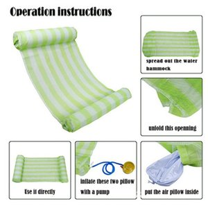 Inflatable Floats & Tubes Est Water Hammock Recliner Floating Swimming Mattress Sea Ring Pool Party Toy Lounge Bed For