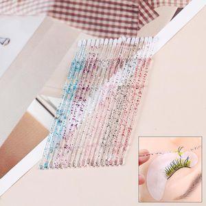 Makeup Brushes 50PCS Crystal Eyelash Swab Disposable Micro Brush Applicators Extensions