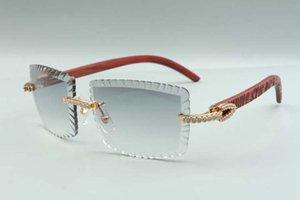 2021 Новейший стиль самые продаваемые тигровые деревянные храмы очки 3524021, режущие линзы средние бриллианты солнцезащитные очки, размер: 58-18-135 мм