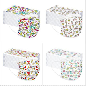 Wholesale 3 Layer 95% Filtration Efficiency Adult Cartoon Print Disposable Face Masks Dustproof Prevention Influenza Face Mouth Mask