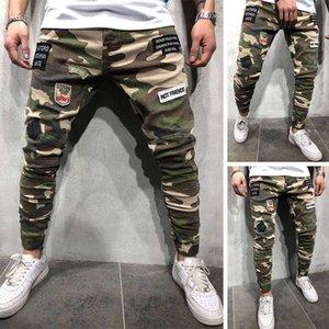 Мужские джинсы Biker Man Designe Одежда 20ss Patchwork Moto Cousssuit Прямая тощая дыра Пальмовая мужская городская хип-хоп одежда