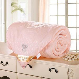 Natural / Mulberry Silk Petroller para invierno / verano gemelo reina rey talla grande edredón / manta / edredón blanco / rosa / de relleno beige