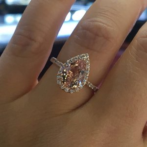 Luxury Womens Wedding Ring Fashion Gemstone Simulated Diamond Engagement Rings For Women Jewelry